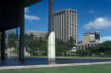 Honolulu, view downtown from State Capitol
