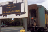 Fairbanks, sign at northern terminus of Alaska Railroad