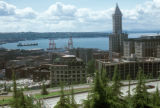 Seattle, view of Elliott Bay and Smith Tower