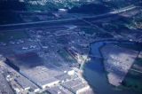 Seattle, aerial view of airport and Duwamish River