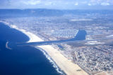 Los Angeles, aerial view of Marina del Rey