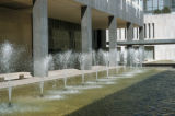 Denver, fountains in plaza of Mile High Center