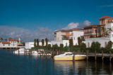 Naples, residences and docks on lagoon