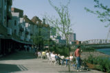 Portland, RiverPlace, riverfront development and outdoor café