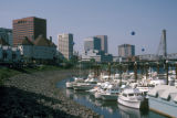 Portland, view of marina and downtown skyline