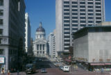 Indianapolis, Indiana State Capitol and Market Street