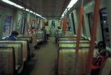Atlanta, MARTA (Metropolitan Atlanta Rapid Transit Authority)  railroad car interior