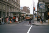 Atlanta, commuters at Walton street bus stop