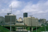 Atlanta, view of downtown skyline and Irwin Street NE