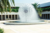 Orlando, suburban Kissimmee, fountain at Tupperware office building