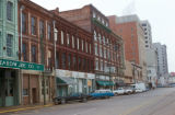 Montgomery, street scene with old storefronts