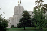 "Salem, Oregon State Capitol with gilded ""Golden Pioneer"" statue"