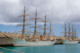 Honolulu, Nippon Maru I and Kaiwo Maru I, Japanese training ships