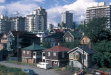 Vancouver, view of West End and city skyline