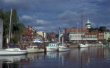 Annapolis, view of harbor with State House dome visible