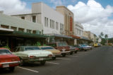 Hilo, street scene in business district