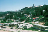 Lead, mobile home park and mine on hilltop