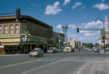 Williston, downtown street scene