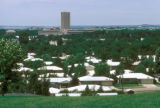 Bismarck, view of residential area and capitol