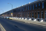 Baltimore, townhouses along residential street
