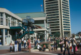 Baltimore, street scene at Harborplace, World Trade Center in background