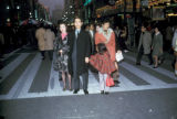 Tokyo, family at pedestrian mall