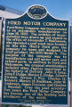 Detroit, Ford Motor Company plaque in Hart Plaza