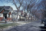 Detroit, residential street in Grosse Pointe