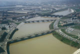 Columbus, view of bridges and Scioto River