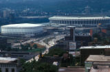 Cincinnati, view of Riverfront Stadium from Mount Eden