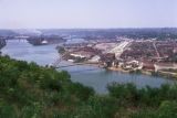 Pittsburgh, view of Ohio River and West End Bridge