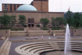 Pittsburgh, fountain and Buhl Planetarium