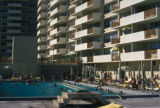 Miami Beach, swimming pool at apartment building