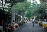 Honolulu, street scene on Fort Street Mall