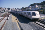 Daly City, Bay Area Rapid Transit near housing development