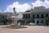 San Juan, statue of Ponce de León at San Jose Plaza in Old San Juan