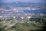 Nagasaki, aerial view of the city