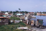 San Juan, slums on the lagoon, Caño de Martin in the Hato Rey business district