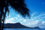 Honolulu, view of Diamond Head from Waikiki