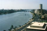 Cairo, view of Nile River and skyline