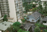 Honolulu, small houses amid high-rises in Waikiki