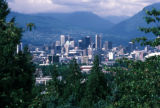 Vancouver, panoramic view of city from Queen Elizabeth Park