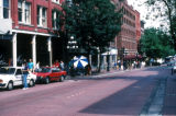 Vancouver, street scene in Gastown historic district