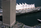 Vancouver, aerial view of Canada Place