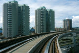 Vancouver, Sky Train and high rise buildings