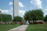New Orleans, park with One Shell Square in background