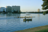 Oakland, crew teams rowing on Lake Merritt