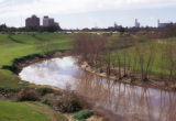 Houston, view of Buffalo Bayou from park