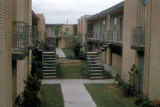 Houston, interior courtyard of Stella Link apartment complex
