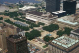 Cleveland, view of the Mall from Terminal Tower